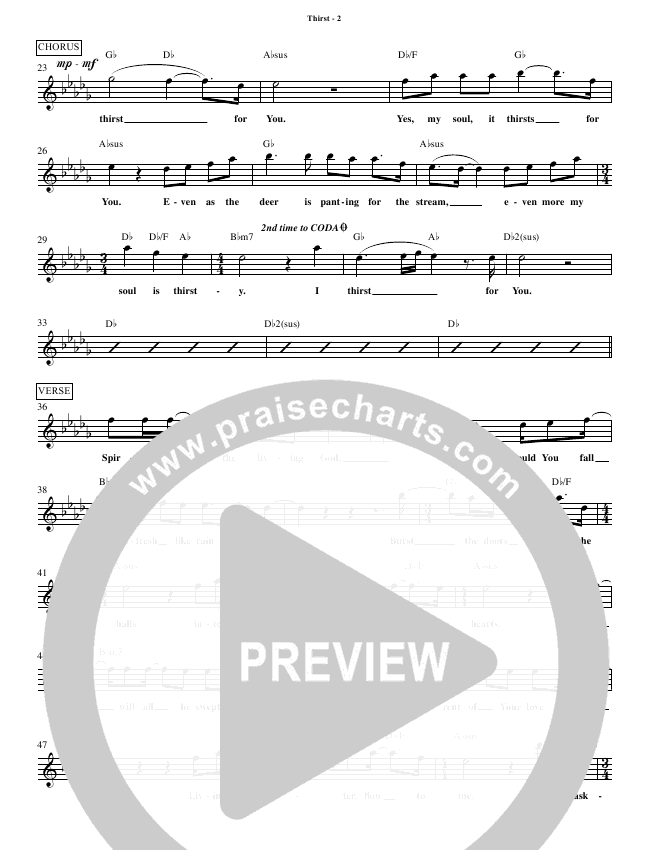 Thirst Lead Sheet (Phil Wickham)
