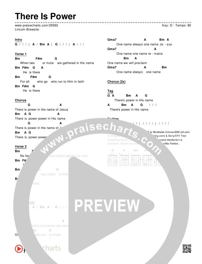 There Is Power Chords - Lincoln Brewster | PraiseCharts