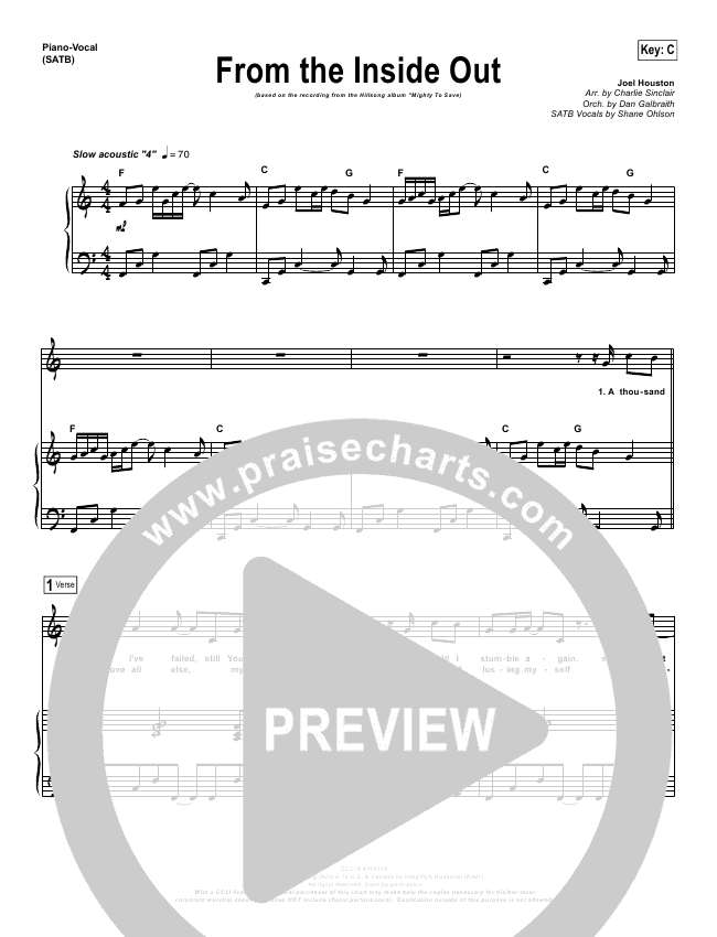 from the inside out lead sheet pdf