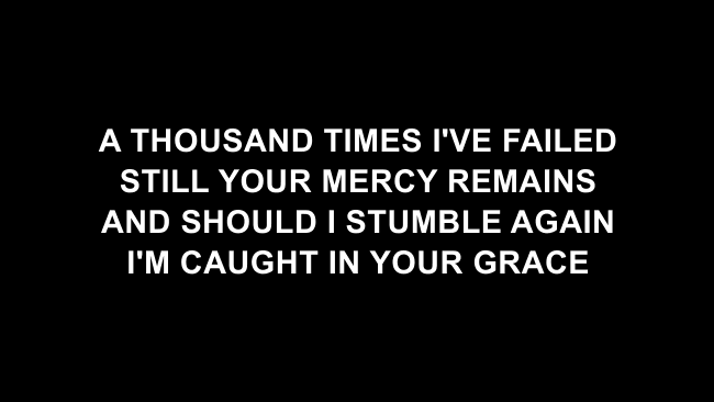 From The Inside Out Lyric Slides (Hillsong Worship)