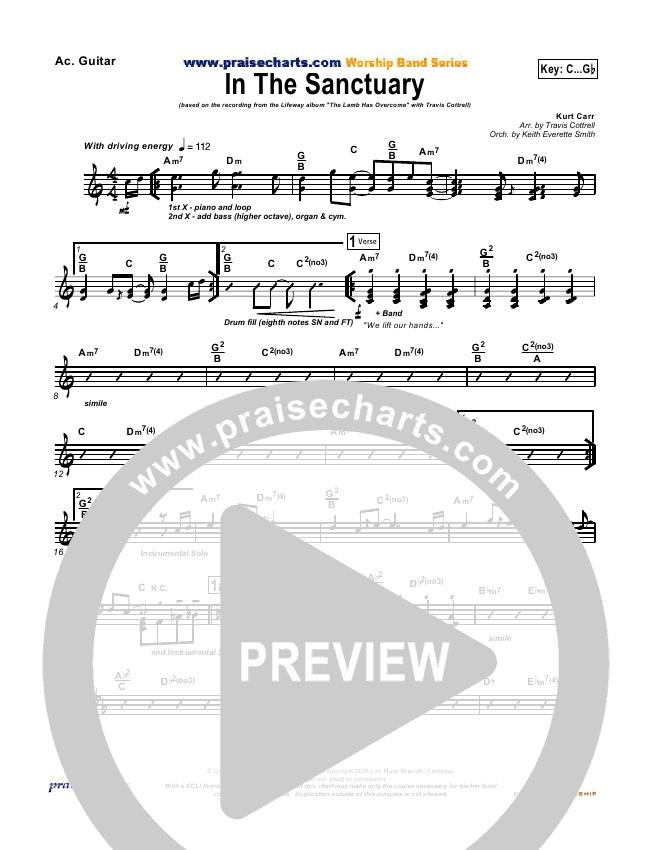 In The Sanctuary Rhythm Chart Travis Cottrell Praisecharts