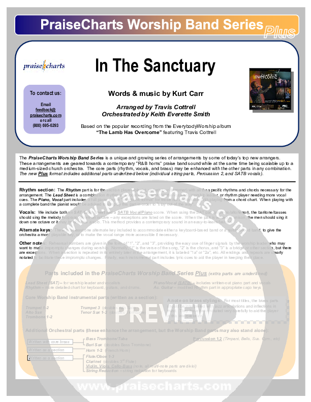 In The Sanctuary Orchestration (Travis Cottrell)