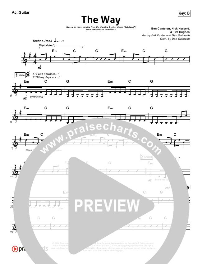 The Way Rhythm Chart (Worship Central)