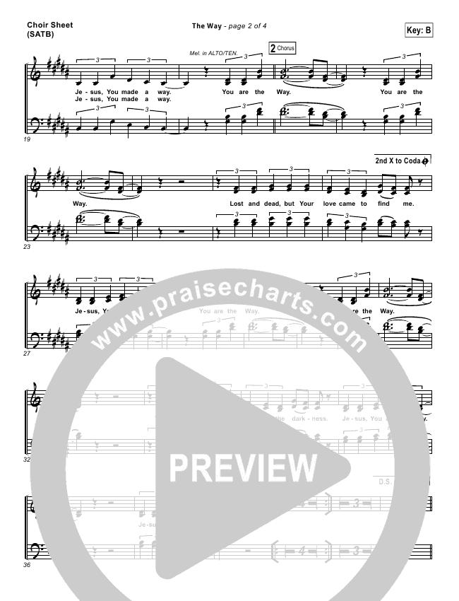 The Way Choir Sheet (SATB) (Worship Central)
