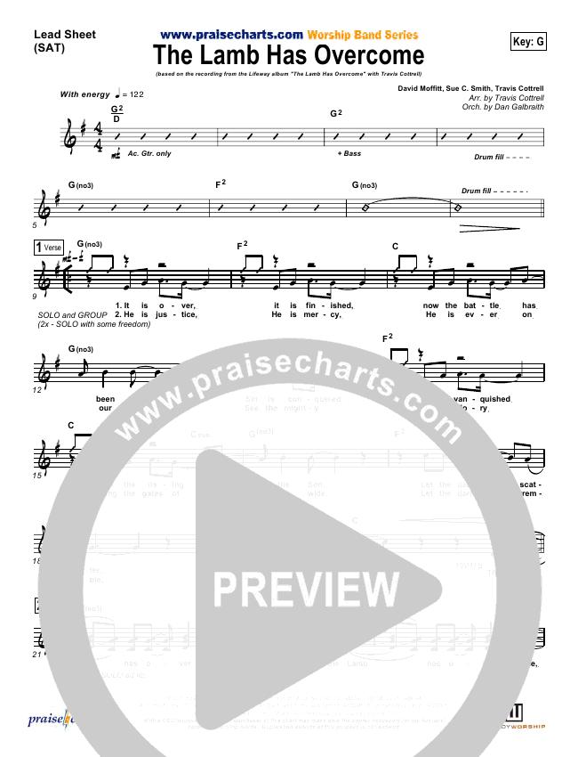 The Lamb Has Overcome Lead & Piano/Vocal (Travis Cottrell)