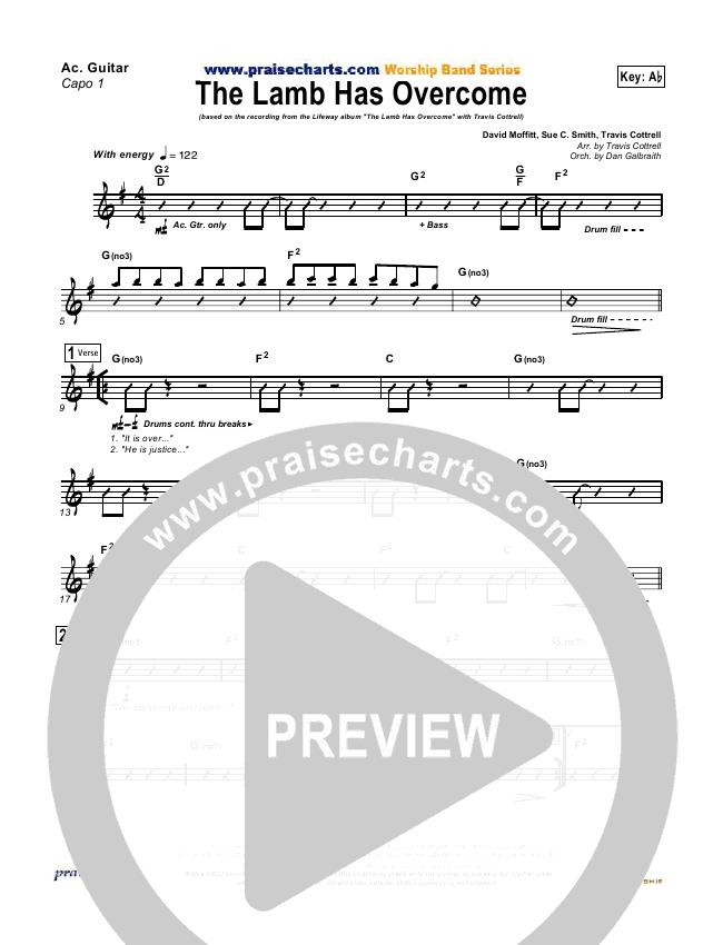 The Lamb Has Overcome Rhythm Chart (Travis Cottrell)