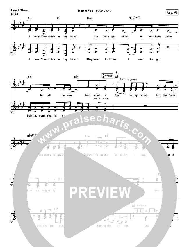 Start A Fire Lead & Piano/Vocal (Unspoken)