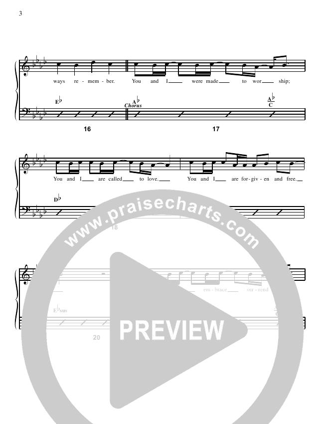 Stand In Your Love (YouTube) Chords & Lyrics (Bethel Music / Josh Baldwin)