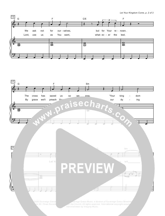 Let Your Kingdom Come Lead & Piano (Sovereign Grace / Chris Jackson)