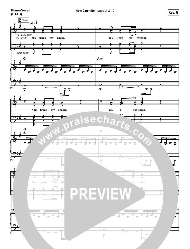 How Can It Be Piano/Vocal (SATB) (Lauren Daigle)