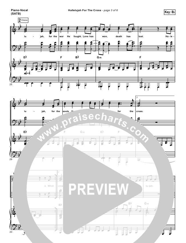 Hallelujah For The Cross Lead Sheet Pianovocal Newsboys