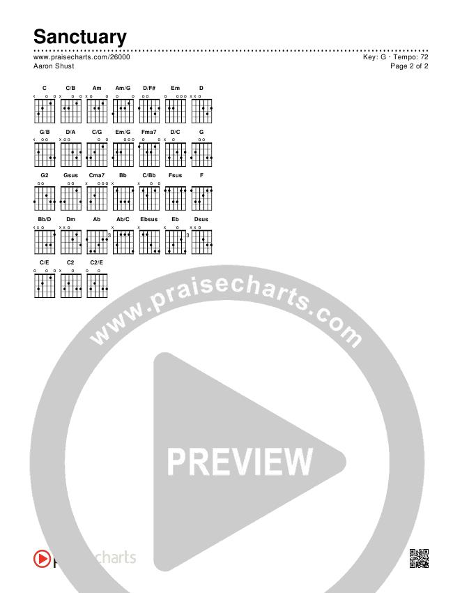 Sanctuary Chords & Lyrics (Aaron Shust)