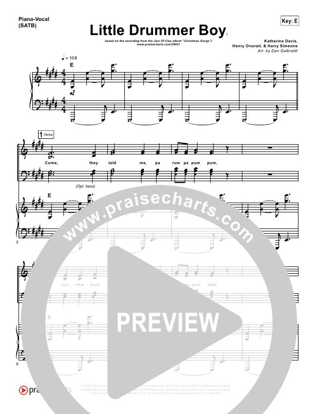little drummer boy satb pdf