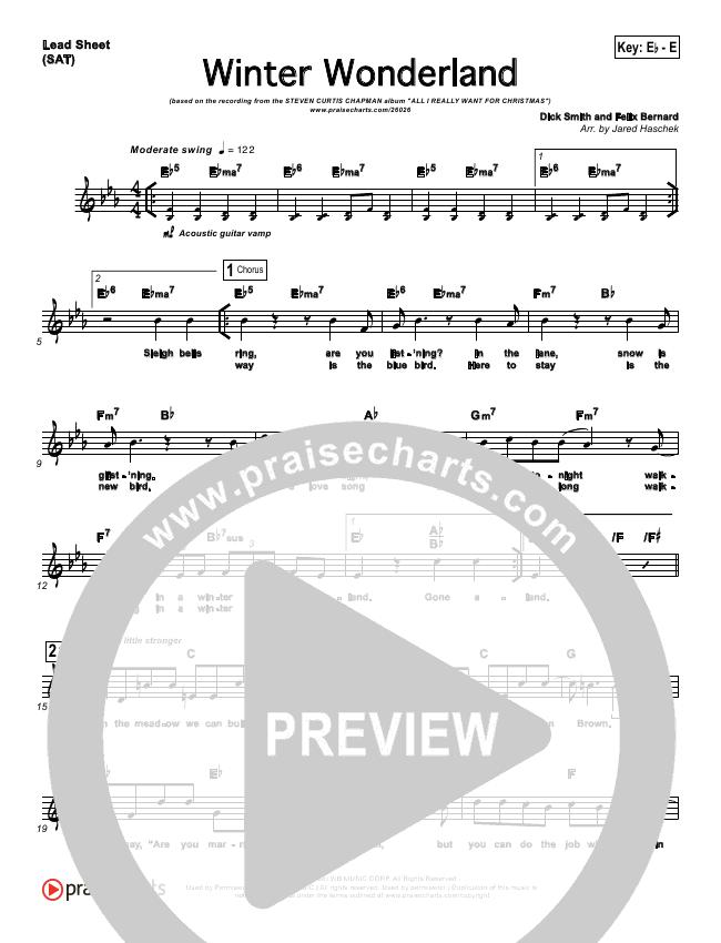 Winter Wonderland Lead Sheet - Steven Curtis Chapman   PraiseCharts