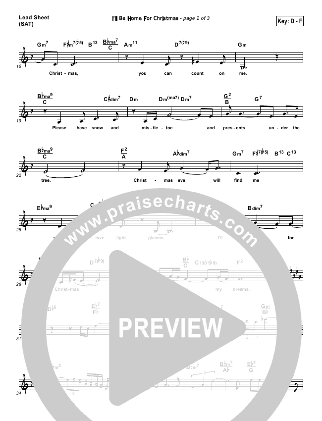 Ill Be Home For Christmas Sheet Music.I Ll Be Home For Christmas Lead Sheet Sat Amy Grant