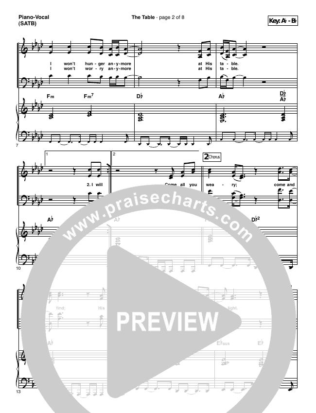 The Table Piano/Vocal (SATB) (Chris Tomlin)