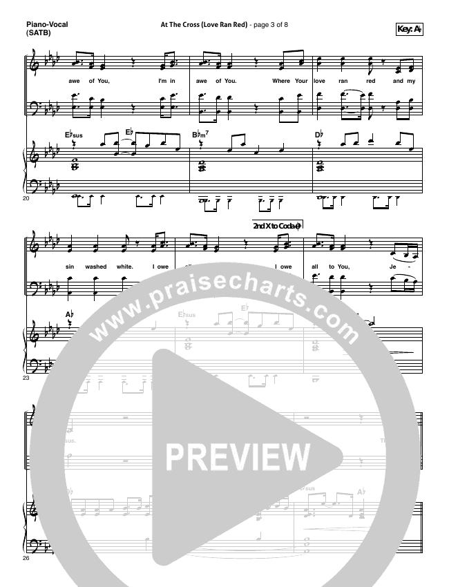 At The Cross (Love Ran Red) Piano/Vocal (SATB) (Chris Tomlin)