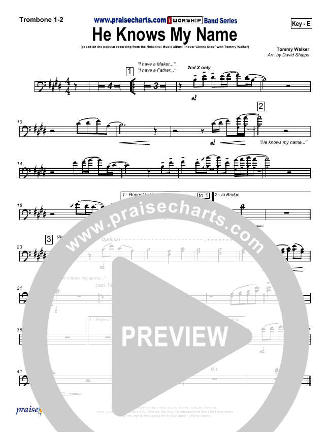 he knows my name sheet music pdf