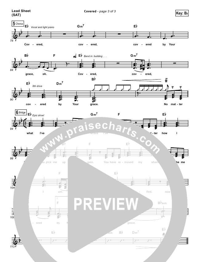 Covered Lead & Piano/Vocal (Planetshakers)