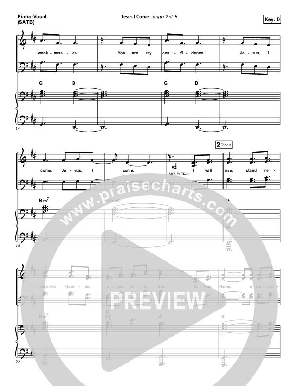 Jesus I Come Piano/Vocal (SATB) (Elevation Worship)