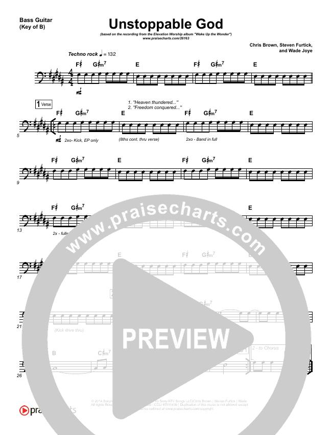 Unstoppable God Bass Guitar (Elevation Worship)