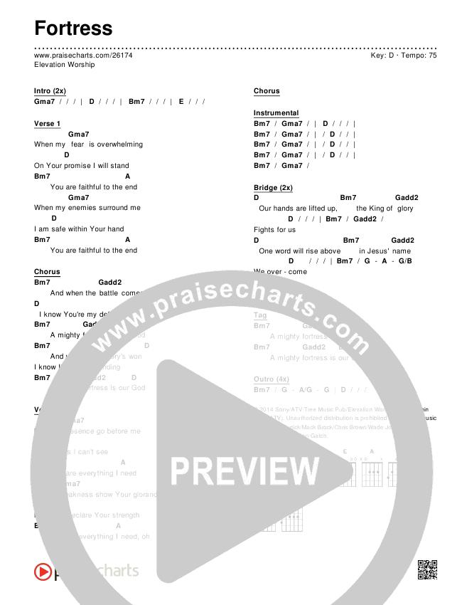 Fortress Chords & Lyrics (Elevation Worship)