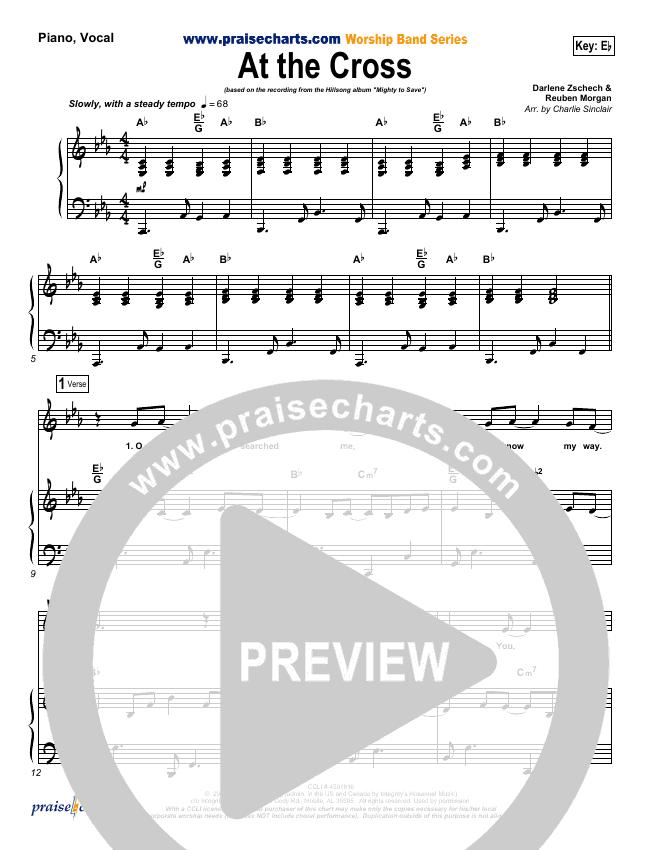 At The Cross Piano/Vocal (SATB) (Hillsong Worship)