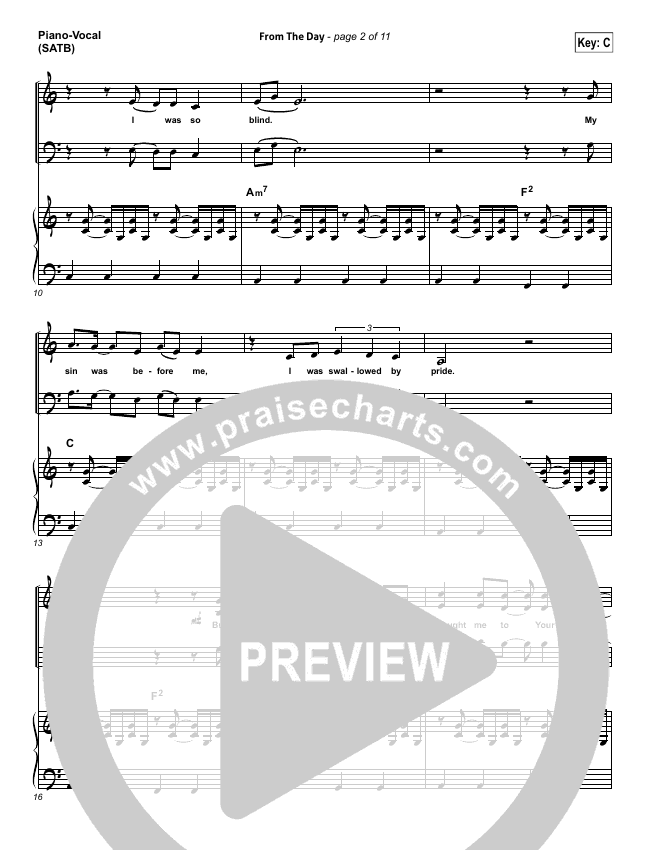 From The Day Piano/Vocal (SATB) (I Am They)