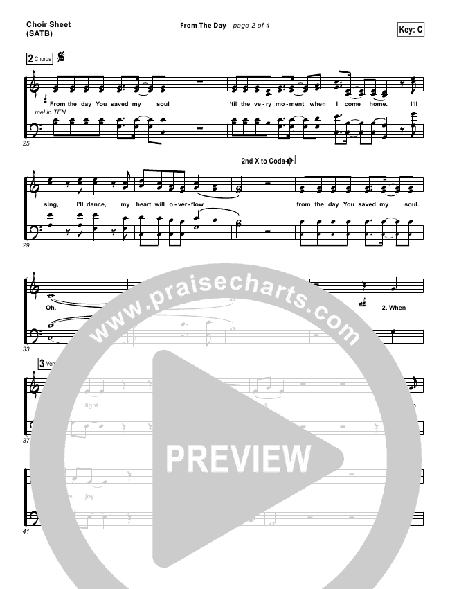 From The Day Choir Sheet (SATB) (I Am They)