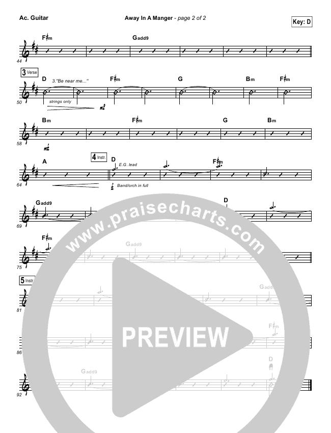 Away In A Manger Rhythm Chart Kim Walker Smith Praisecharts