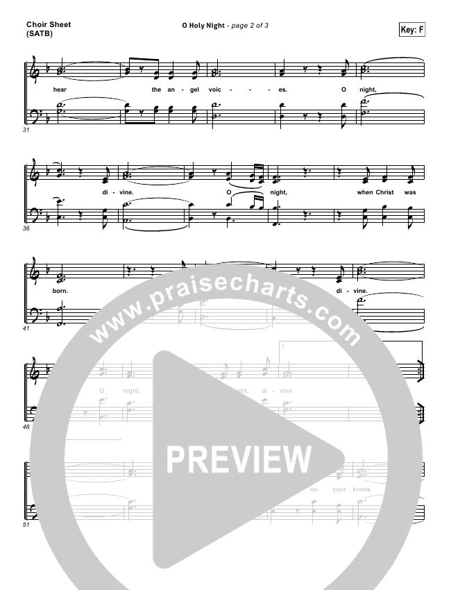 O Holy Night Choir Sheet Satb Kim Walker Smith