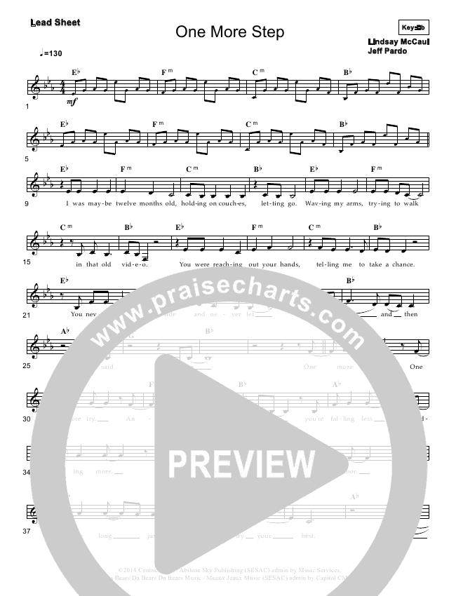 One More Step Lead & Piano/Vocal (Lindsay McCaul)
