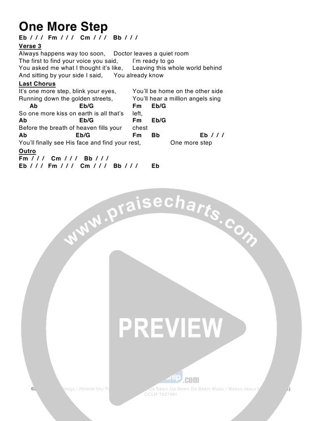 One More Step Chord Chart (Lindsay McCaul)