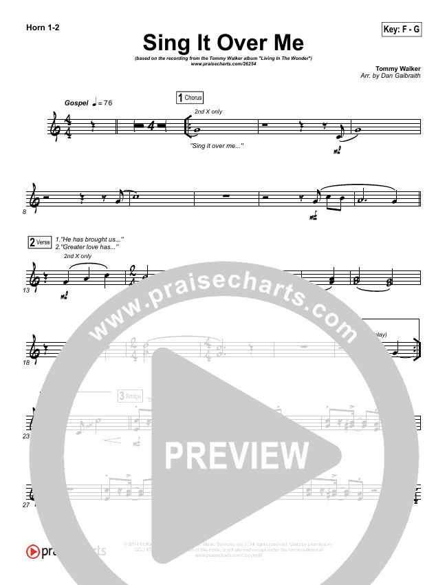 Sing It Over Me Brass Pack (Tommy Walker)