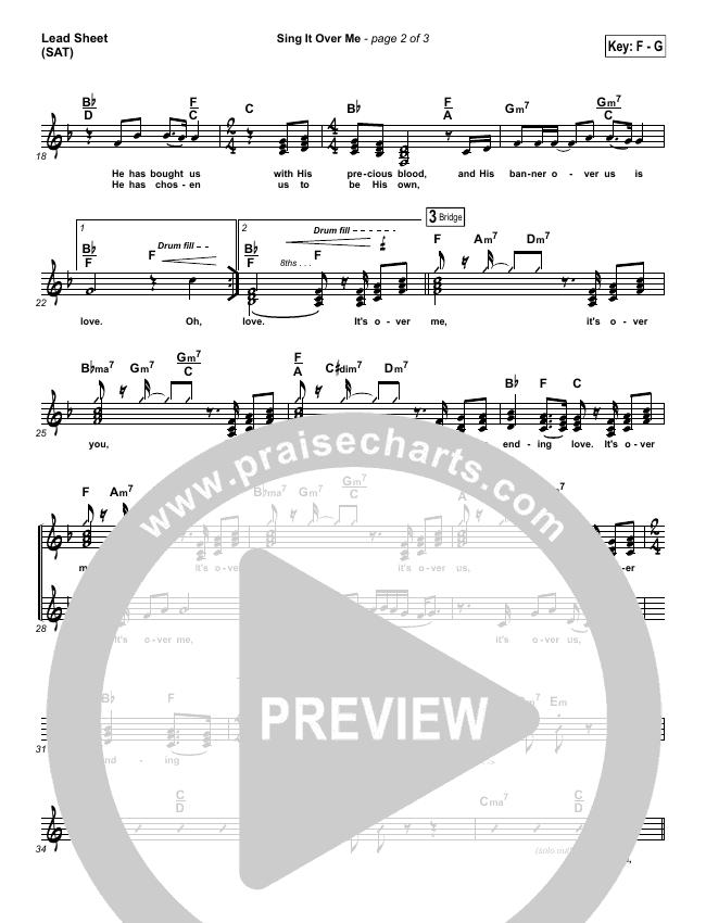 Sing It Over Me Lead Sheet (SAT) (Tommy Walker)