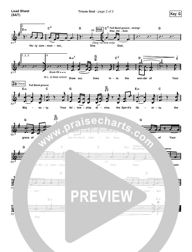 Triune God Lead & Piano/Vocal (Brian Doerksen)
