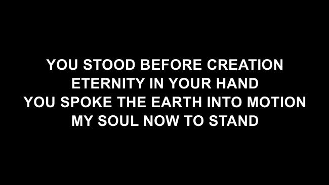 The Stand Lyric Slides (Hillsong UNITED)