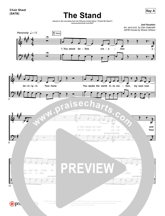 The Stand Choir Sheet (SATB) (Hillsong UNITED)
