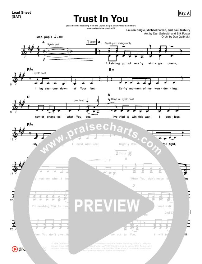 Trust In You Orchestration & Finale (Lauren Daigle)