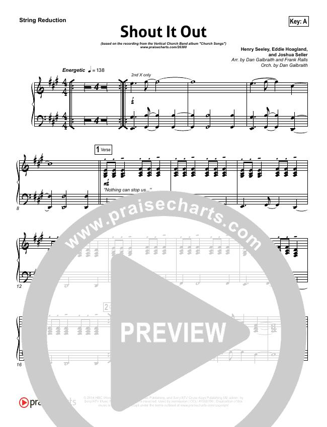 Shout It Out String Pack (Vn, Viol, Cel, Str) - Vertical