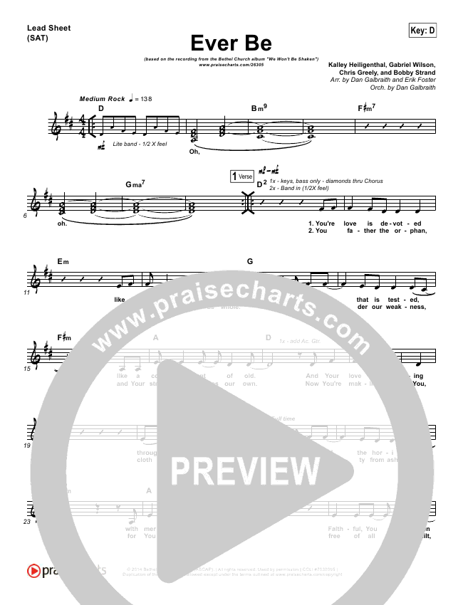 Ever Be Orchestration & Finale (Bethel Music)