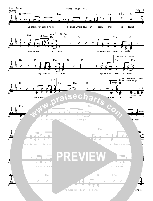 Home  Lead Sheet (Bethel Music)