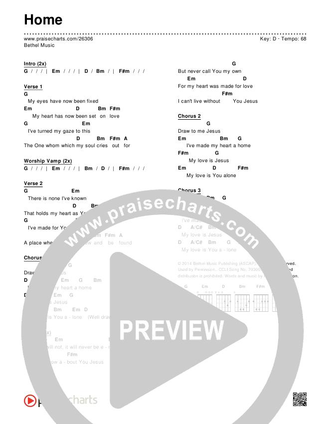 Home  Chords & Lyrics (Bethel Music)