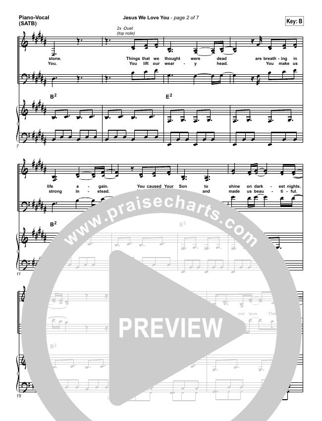 Jesus We Love You Piano/Vocal (SATB) (Bethel Music)