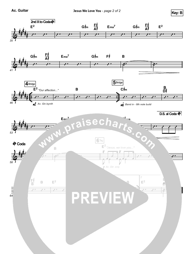 Jesus We Love You Rhythm Chart (Bethel Music)
