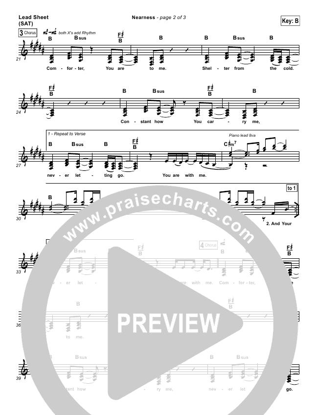Nearness Lead (SAT) (Bethel Music)