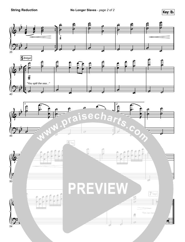 No Longer Slaves (Spontaneous)(Live) String Pack (Bethel Music)