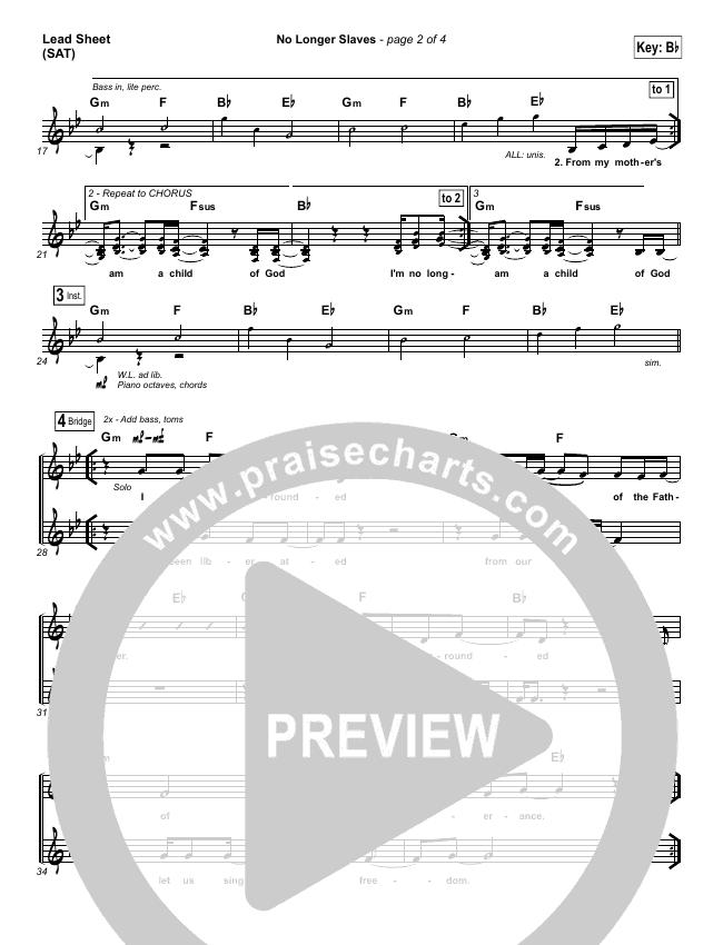 No Longer Slaves (Spontaneous)(Live) Lead & Piano/Vocal (Bethel Music)