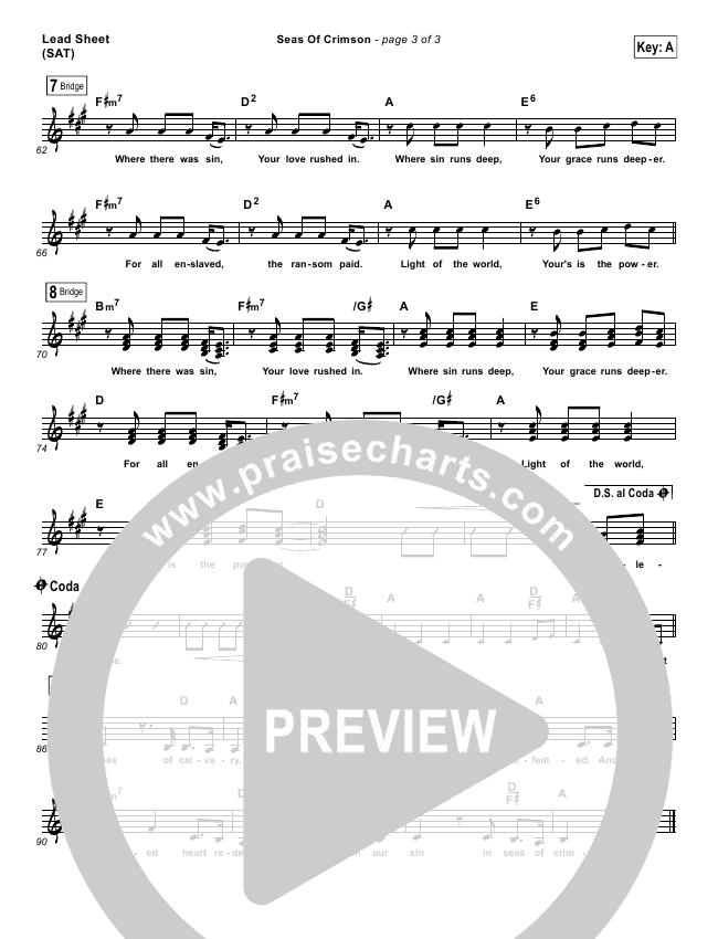Seas Of Crimson Lead & Piano/Vocal (Bethel Music)