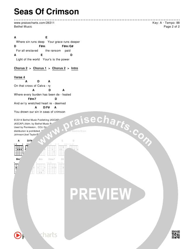 Seas Of Crimson Chords & Lyrics (Bethel Music)
